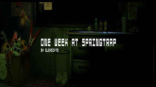 One Week At Springtrap (Official) Free Download